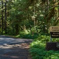 The entrance to Broken Bowl Campground.- Broken Bowl Campground