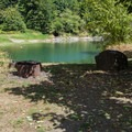 Fall Creek Reservoir is directly accessible.- Fisherman's Point Group Campground