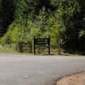 The entrance to Cascara Campground.- Cascara Campground