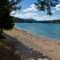 Cascara Campground's excellent access to Fall Creek Reservoir when the water is sufficiently high.- Cascara Campground