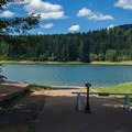 The boat ramp at Cascara Campground closes seasonally when water levels drop.- Cascara Campground