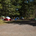 Typical group site.- Cascara Campground