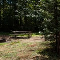Typical site.- Cascara Campground