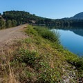 The walk across the dam.- Dexter State Recreation Site