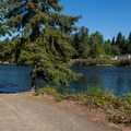 The boat ramp on the Middle Fork of the Willamette just below Dexter Dam.- Dexter State Recreation Site
