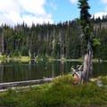 Bird Lake from Bird Lake Campground.- Bird Lake Campground
