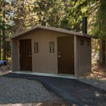 Vault toilet facilities at Crescent Lake Campground are ADA accessible, as are the yurts.- Crescent Lake Campground