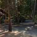 Typical yurt.- Crescent Lake Campground