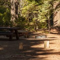 Typical site.- Crescent Lake Campground