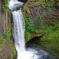 The flow is regulated by PacifiCorp to generate hydroelectricity.- Toketee Falls