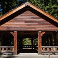 The picnic shelter at Simex Group Campground.- Simax Group Campground