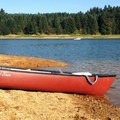 Canoeing late season on Henry Hagg Lake.- Henry Hagg Lake Canoe/Kayak