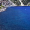 The lake's azure waters prompted John Wesley Hillman to name it Deep Blue Lake in 1853.- Cleetwood Cove Trail