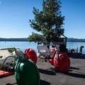 Aqua cycles for rent at Crescent Lake Resort.- Crescent Lake Resort