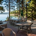Patio dining at Crescent Lake Resort.- Crescent Lake Resort