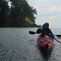 Kayaking in the rain.- San Juan Island: Cattle Point Sea Kayaking