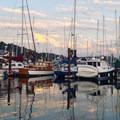 Boats in Friday Harbor.- San Juan Island: Friday Harbor Sea Kayaking