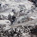 The base of the Nisqually Glacier.- Mount Rainier: Disappointment Cleaver Route