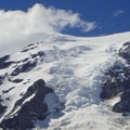 Icefall on the Nisqually Glacier.- Mount Rainier: Disappointment Cleaver Route