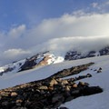 Fast changing weather on Mount Rainier's summit.- Mount Rainier: Disappointment Cleaver Route