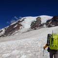 Mount Rainier (14,411') from the Muir Snowfield.- Mount Rainier: Disappointment Cleaver Route