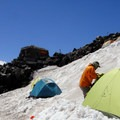 Basecamp at Camp Muir.- Mount Rainier: Disappointment Cleaver Route