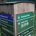 Hiking trail markers.- Hoyt Arboretum