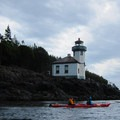 Lime Kiln State Park Lighthouse.- San Juan Island, Sea Kayaking Smallpox Bay to Deadman Bay