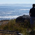 Looking over Haro Straight to Victoria, B.C.- San Juan Island, Lime Kiln Point State Park