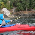 The restored lime kiln viewed from a kayak.- San Juan Island, Lime Kiln Point State Park