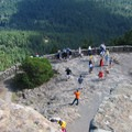 Looking down from atop the obervation tower.- Mount Constitution