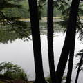 Summit Lake along the trail.- Orcas Island, Mount Constitution Hike