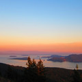 Sunset view from Little Summit on Mount Constitution.- Orcas Island, Mount Constitution Hike
