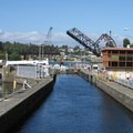 Heading out to Puget Sound through the locks.- Lake Union
