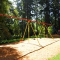 The playground near SW Park Place on Washington Park's eastern edge.- Washington Park