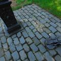 A portion of Washington Park's Holocaust Memorial.- Washington Park