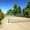 Tennis courts near the International Rose Test Garden.- Washington Park