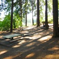 A picnic area above the International Rose Test Garden.- Washington Park