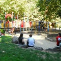 The playground off of SW Sherwood Boulevard.- Washington Park