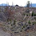 An eastward view into the island's caldera.- Wizard Island Summit Trail