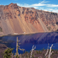 The incredible colors and contrasts of Crater Lake come alive from the summit of Wizard Island.- Wizard Island Summit Trail