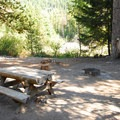 One of six campsites at White River Campground.- White River Station Campground