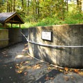Cascade Streamwatch pavilion entrance.- Wildwood Recreation Site