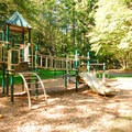 The playground in the group picnic area at Wildwood Recreation Site.- Wildwood Recreation Site