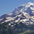 Mount Rainier (14,411') from Tolmie Peak (5,939').- Tolmie Peak Hike