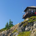 The lookout tower atop Tolmie Peak.- Tolmie Peak Hike