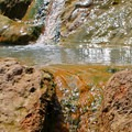 The water from the upper pools flows through channels to the lower pools.- Umpqua Hot Springs