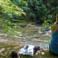 Explore the riverside on your return and discover plenty of backcountry camping opportunities.- Umpqua Hot Springs
