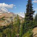 Sourdough Ridge Trail enroute to Burroughs Mountain.- Burroughs Mountain Hike