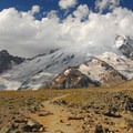 Mount Rainier (14,411') and Little Tahoma Peak (11,138') from the first Burrough.- Burroughs Mountain Hike